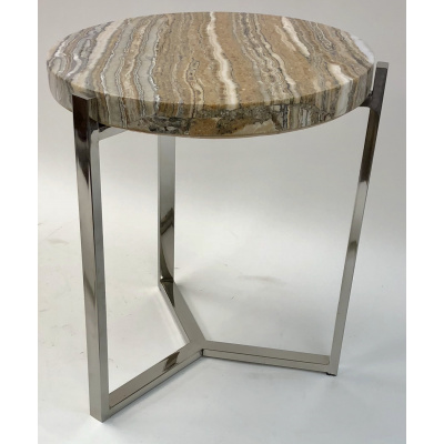 Cedric Round Onyx Drink Table