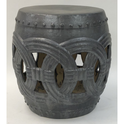 Large Chinese Grey Ring Garden Stool