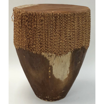 Vintage African Brown Cowhide Drum