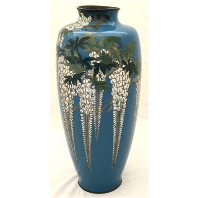 Antique Meiji Period Cloisonne Vase