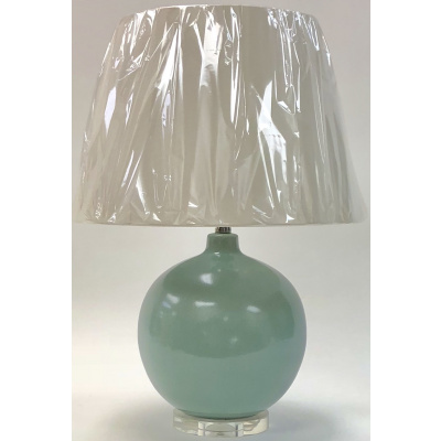 Buxton Ballon Lamp w/Celadon Glaze