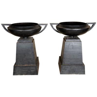Antique Pair Kramer Athens Senior Urns
