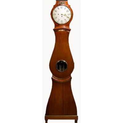 Antique Swedish Mahogany Tall Case Clock