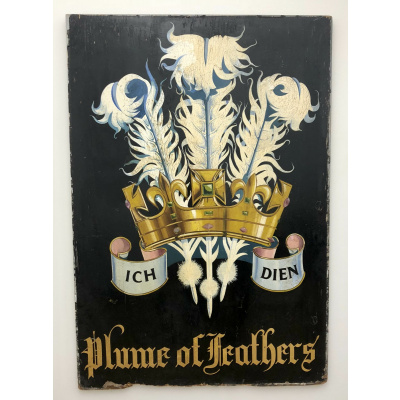 "Old English Tavern Sign ""Three Plumes"""