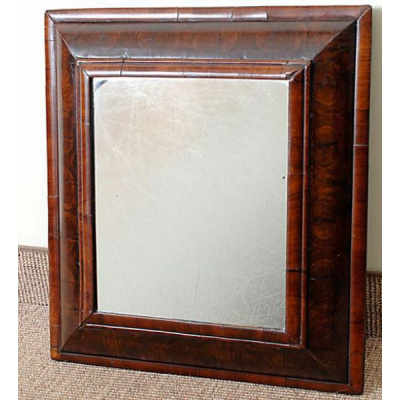 Antique Oyster Wood Cushion Mirror