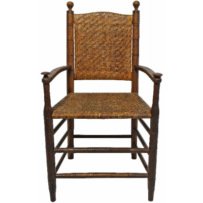 Antique English Rush Chair