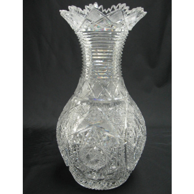 Antique ABP Crystal Balustrad Vase