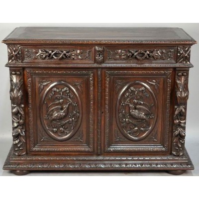 Antique French Louis XIII Hunt Buffet