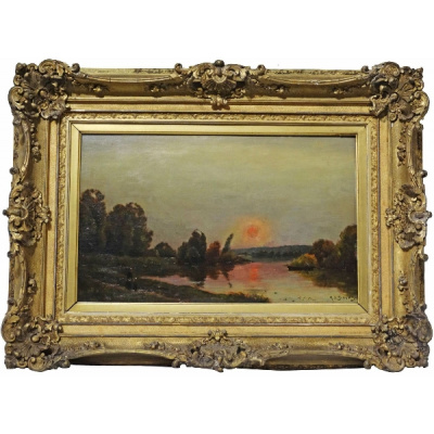 Antique Henry Jacques Delpy Painting