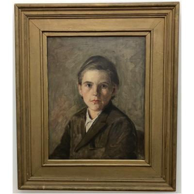 Antique Horace Burdick Oil Portrait