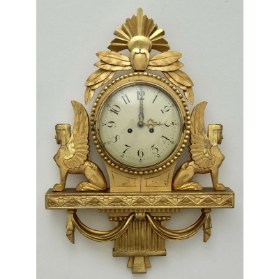 Antique Swedish Egyptian Revival Clock