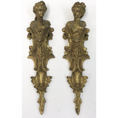 Antique Pair of French Furniture Mounts