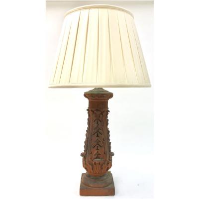 Antique Terracotta Acanthus Lamp *Hold