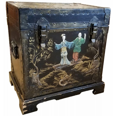 Antique Chinese Trunk on Stand