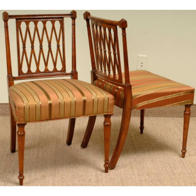 Antique Regency Dining Chairs Set/4