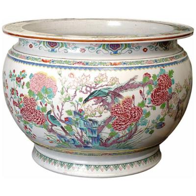 Antique Samson Famille Rose Fish Bowl