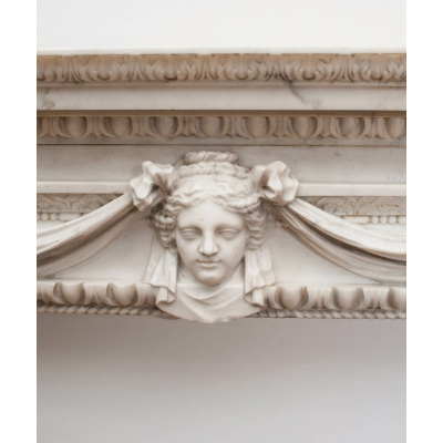 Antique William Kent White Marble Mantel