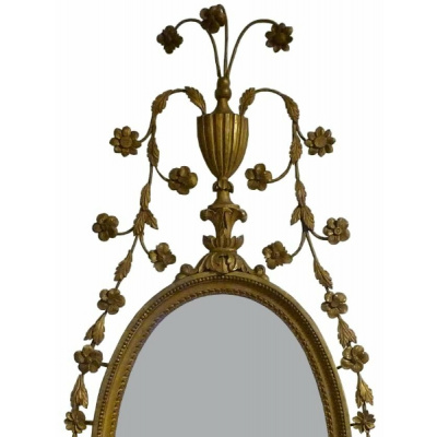 Antique Pr of English Giltwood Mirrors