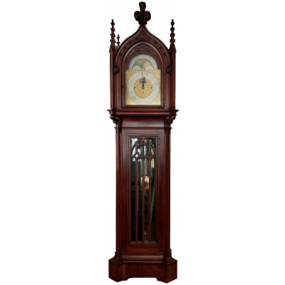 English Gothic Long Case Clock