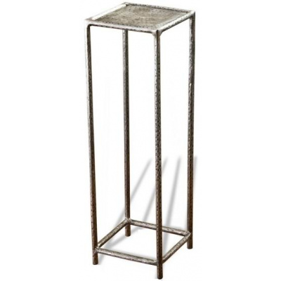Leon Petite Metal Drink Table - Pewter