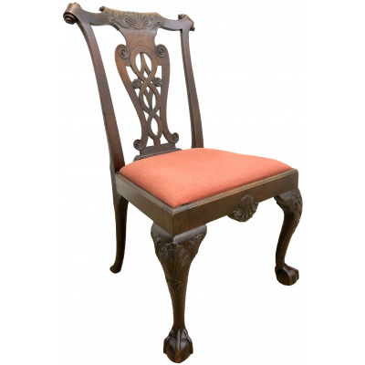 Antique c.19th Irish Chippendale Chair