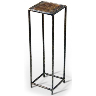 Leon Petite Metal Drink Table -Old Brass