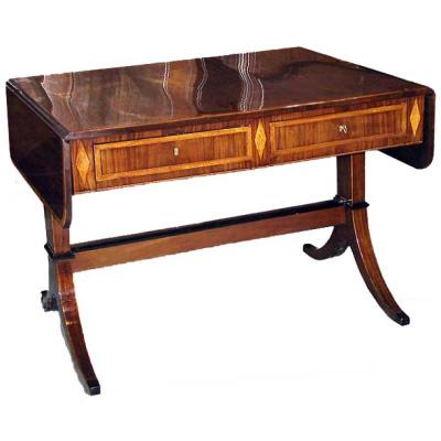 Antique Swedish Mahogany Writing Table