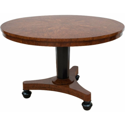 Antique English Pollard Oak Center Table