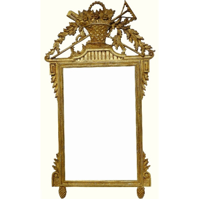 Vintage Italian Carved Gilded Mirror