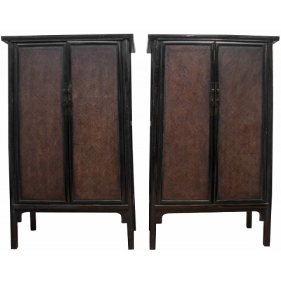 Antique Pair of Large Chinese Cabinets