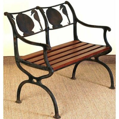 """Antique Iron""""Molla""""Bench & 2 Chairs*Sold"""