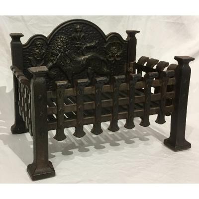 Antique Cast Iron Coal Grate