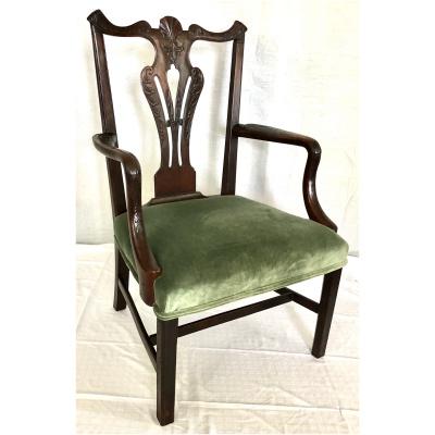 Antique 18th c Arm Chair w/Acanthus Leav