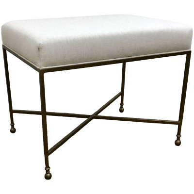 Metalworks Quentin Bench w/Linen Seat