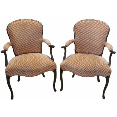 Antique Georgian Style Pair of Armchairs
