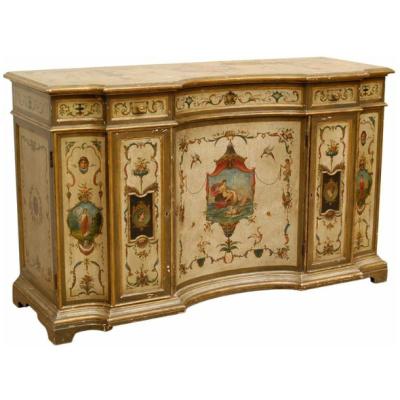 Antique Painted Italian Cabinet