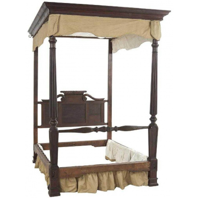 19th c. Gillows of Lancaster Queen Bed