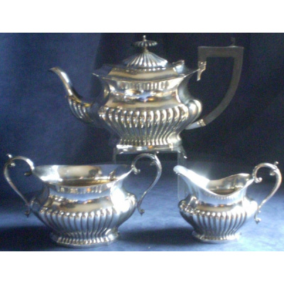 Antique Georgian 3PC Silver Tea Set