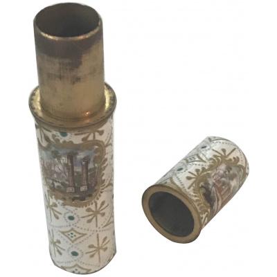18th c. French Enamel Needle Case Etui