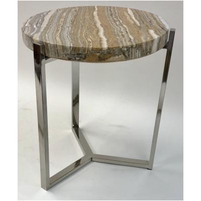 Cedric Round Onyx Drink Table