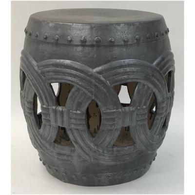 Large Chinese Grey Ring Garden Stool
