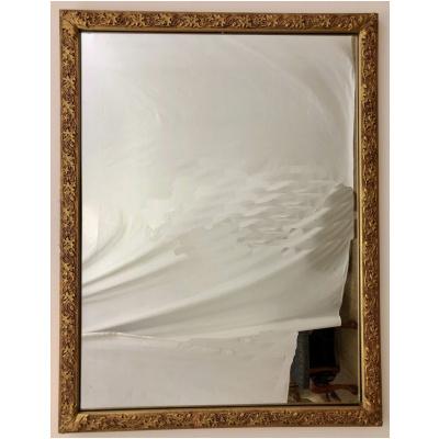 Antique Gilt Mirror w/Vine & Berry Motif
