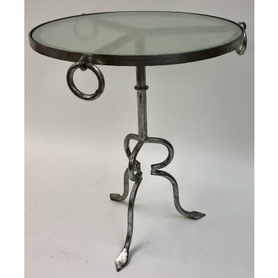 Paulette Drink Table w/Old Silver Finish