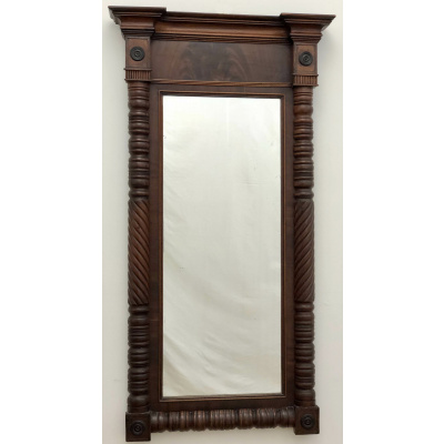 Antique Mahogany Empire Mirror