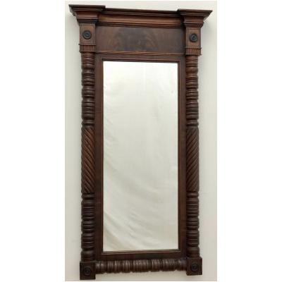 Antique Mahogany Empire Mirror