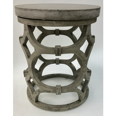 Celtic Oak & Concrete Round Drink Table