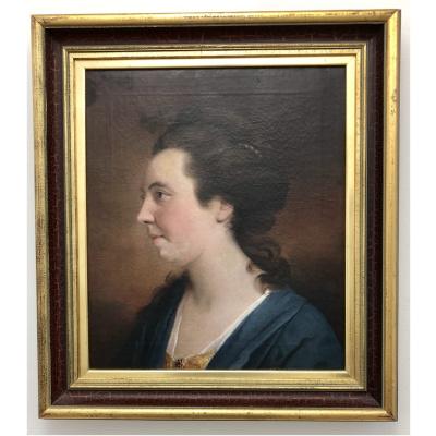 Antique Jousha Reynolds Style Portrait