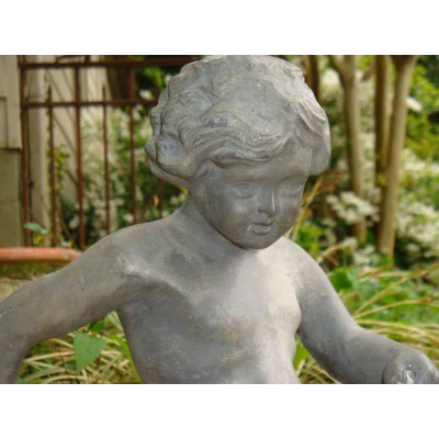Antique Fountain Figure /Boy on Dolphin