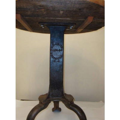 Antique Indust Pub Table w/Paw Feet*Sold