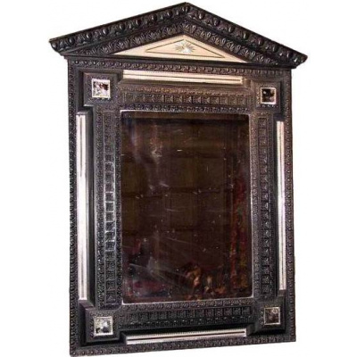 Antique French Pediment Mirror